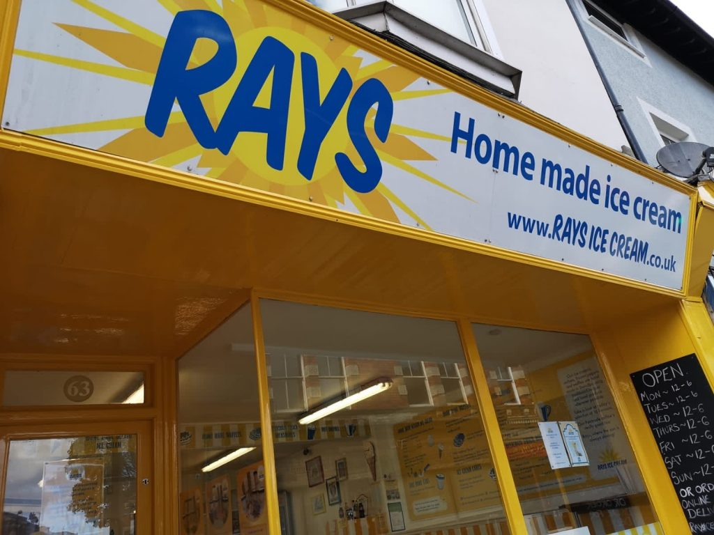 Rays Ice Cream, Old Town, Swindon's shop front and shop sign